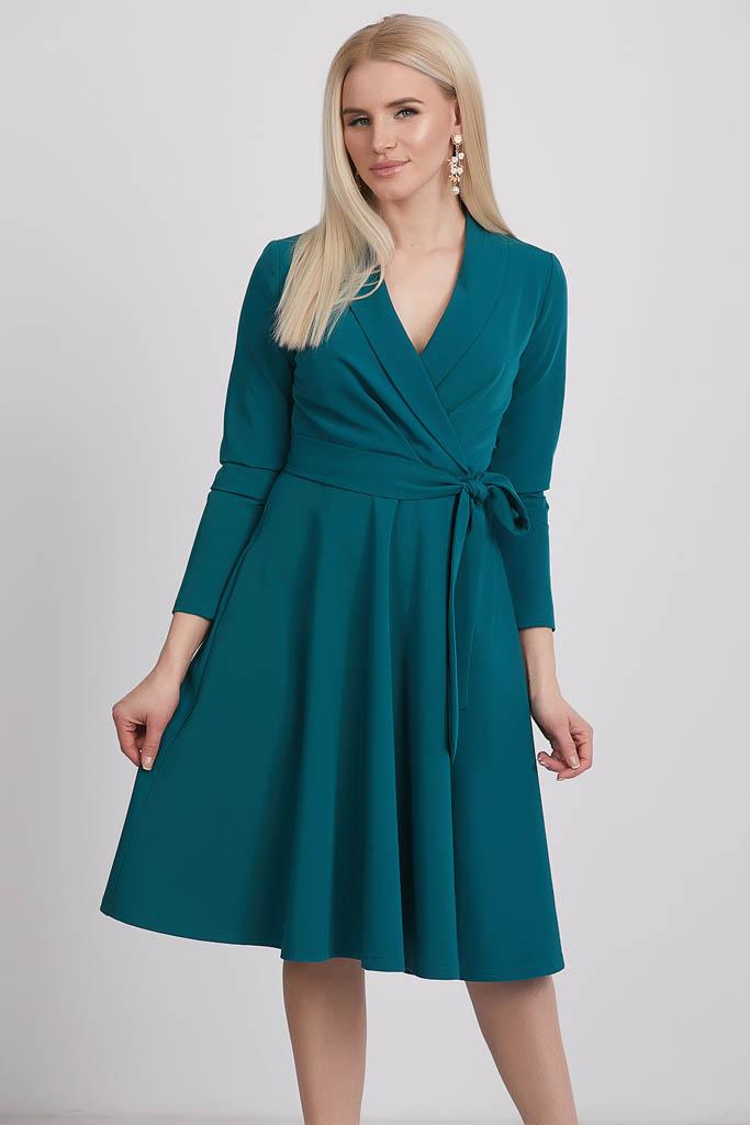 платье с запахом c юбкой полусолнце