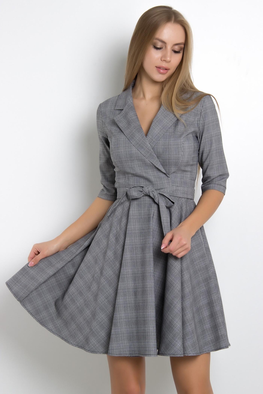платье с запахом с юбкой клеш