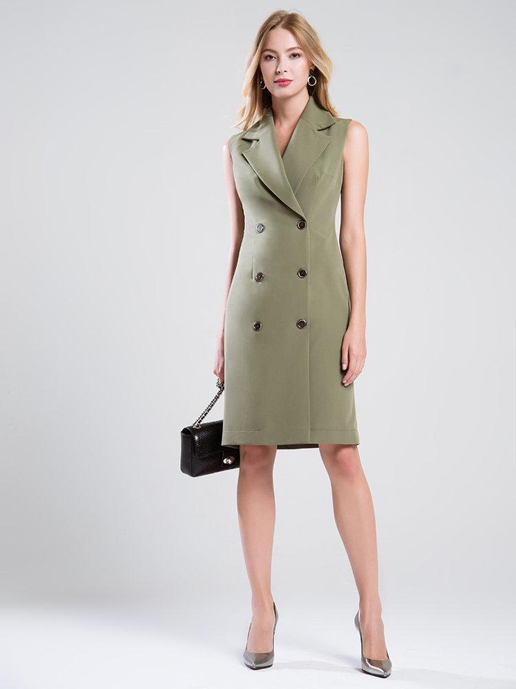 Двубортное платье с запахом