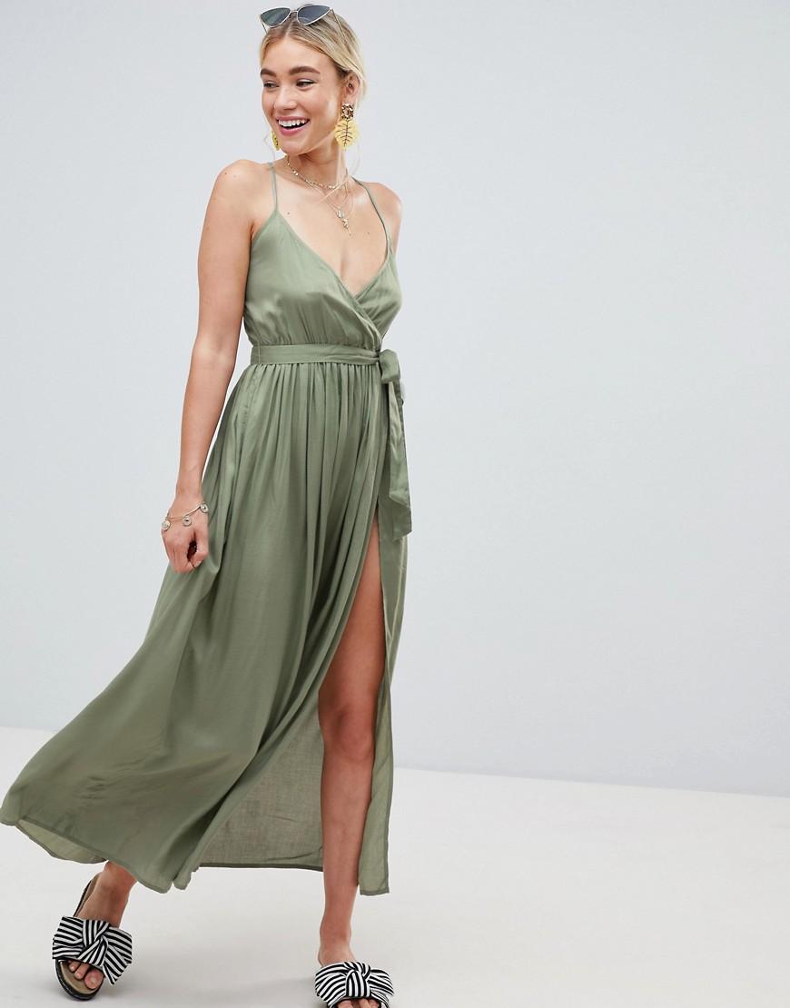 Платье с запахом пляжное
