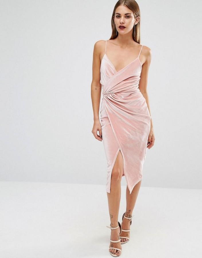 платье с запахом на выпускной