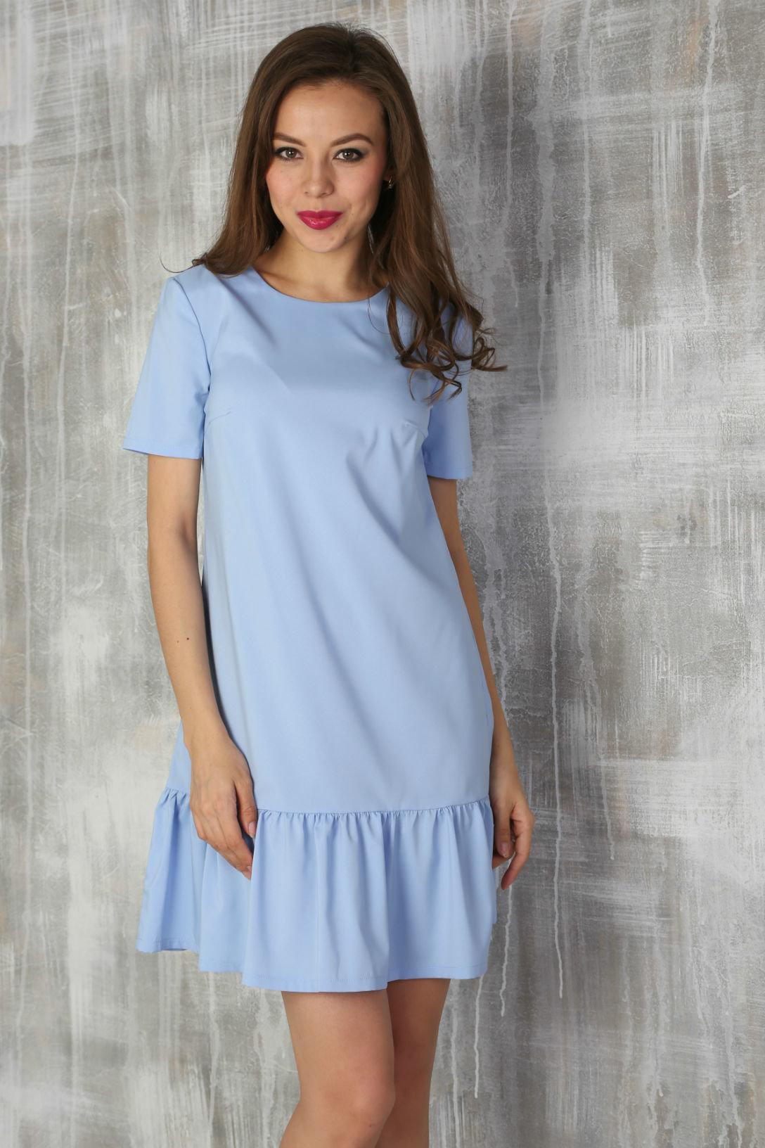 голубое платье летнее