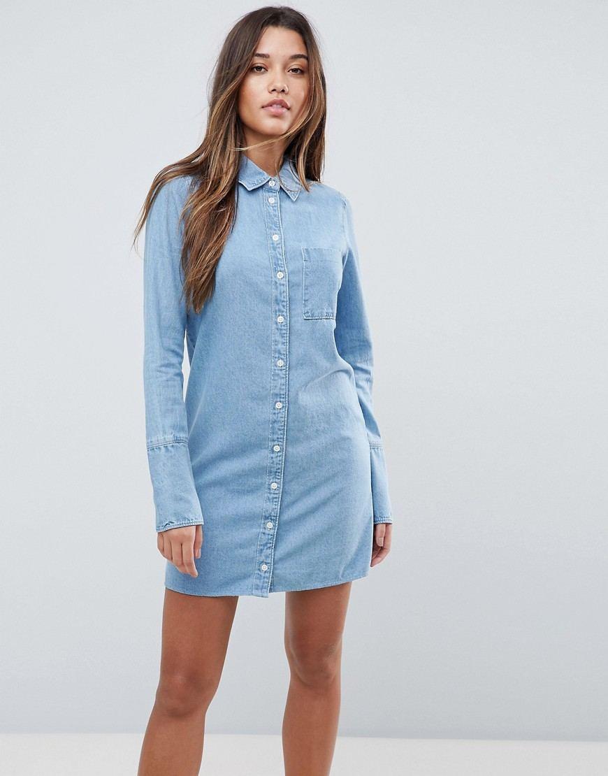 голубое платье джинсовое