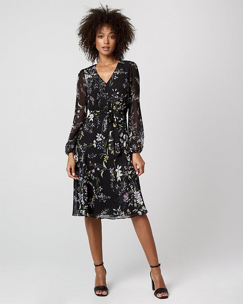 платье из шифона миди