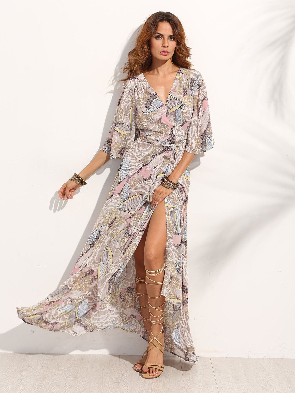 шифоновое платье с запахом