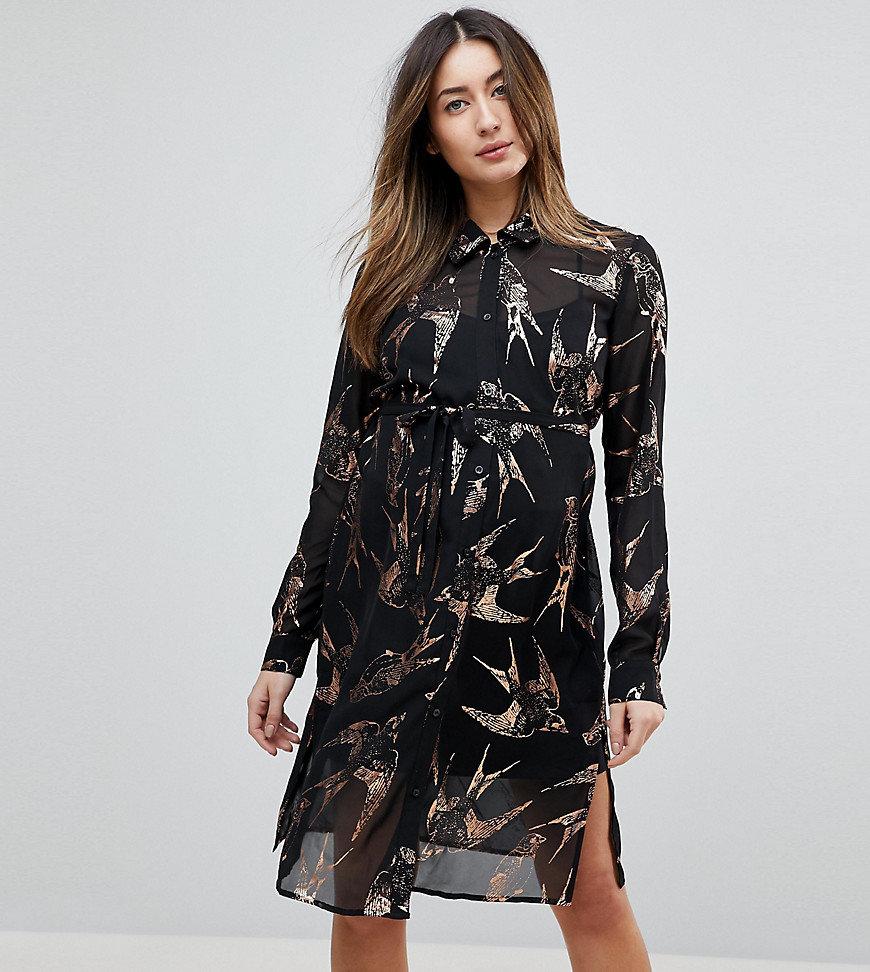 шифоновое платье рубашка