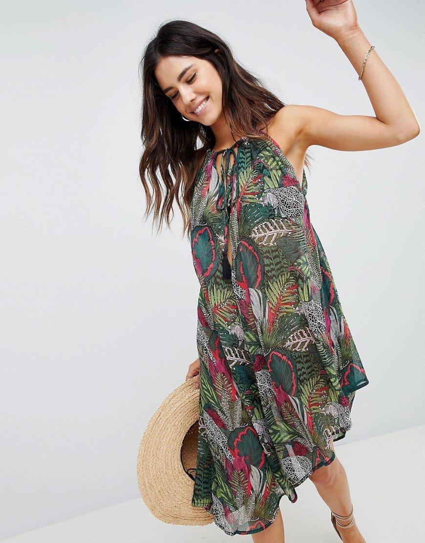 шифоновое платье пляжное