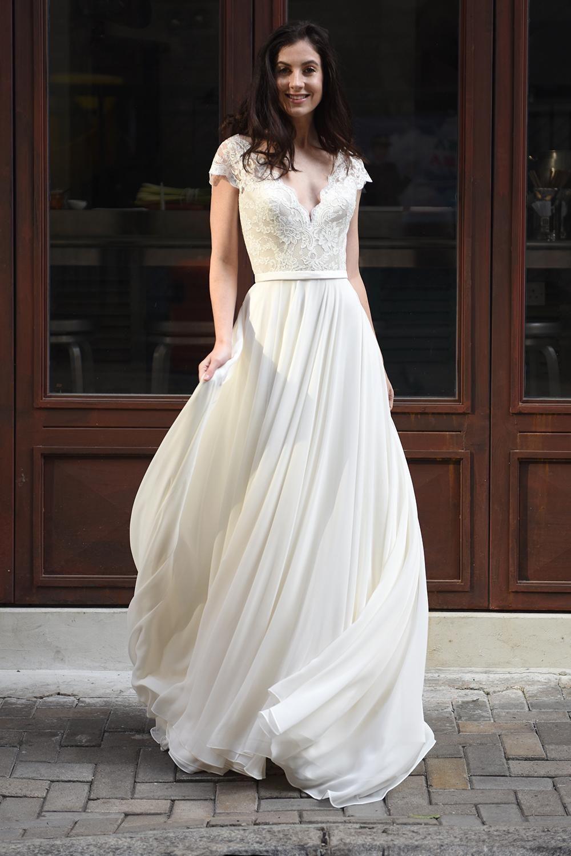 шифоновое платье на свадьбу
