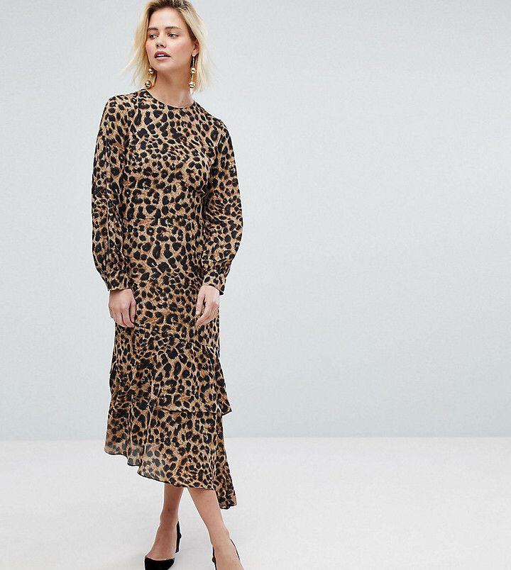 шифоновое платье леопардовое