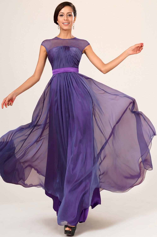 шифоновое платье сиреневое
