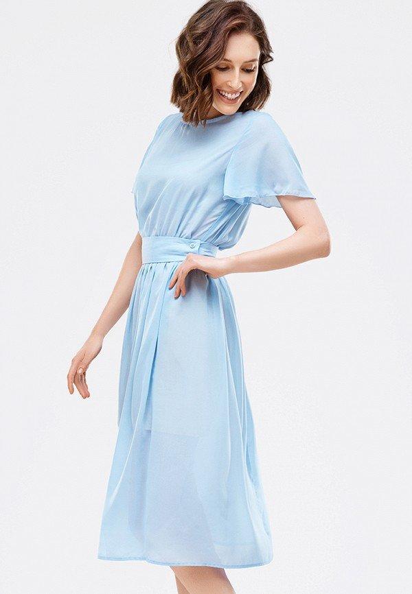 шифоновое платье голубое