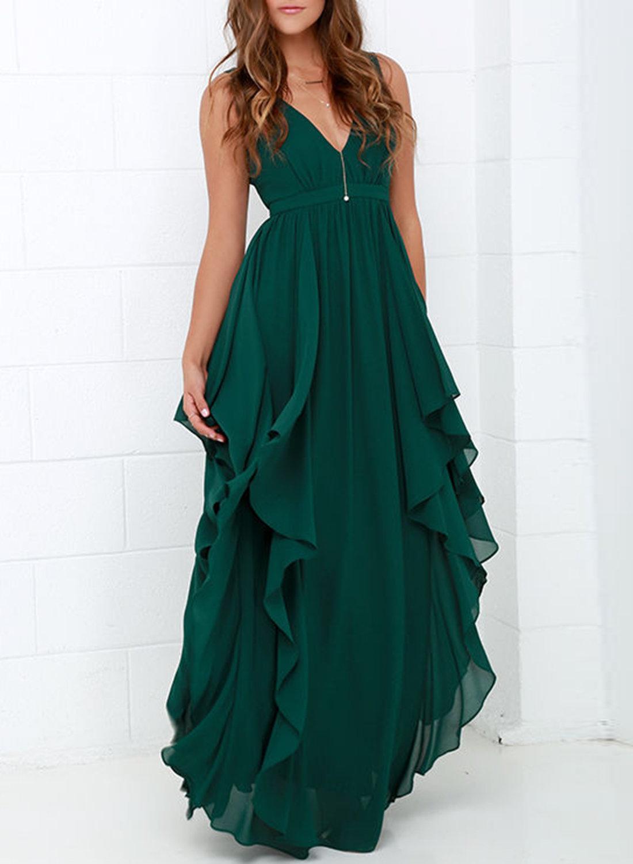 шифоновое платье зеленое