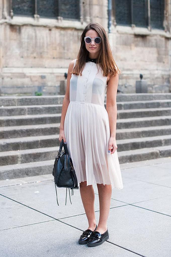 шифоновое платье туфли