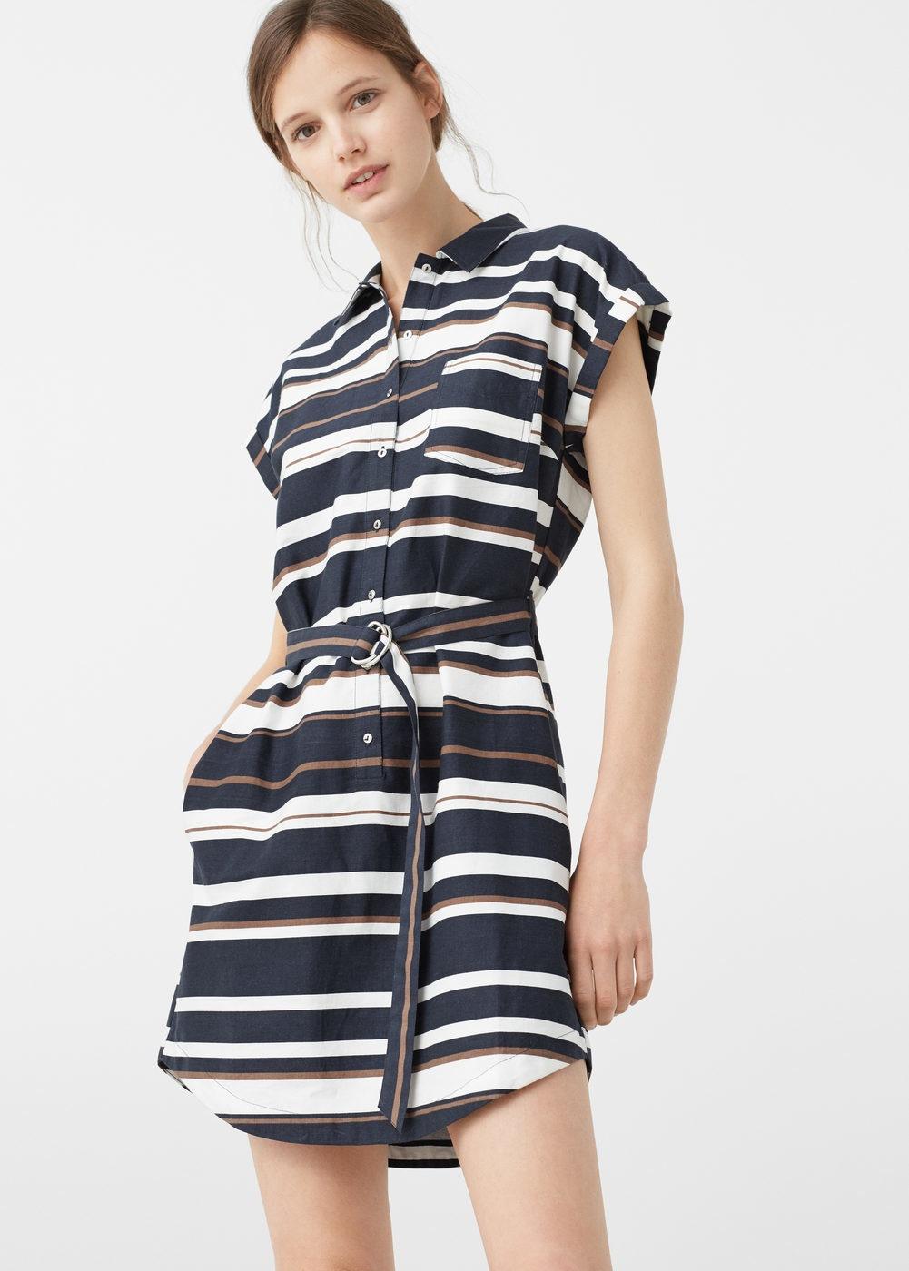 платье рубашка в горизонтальную в полоску