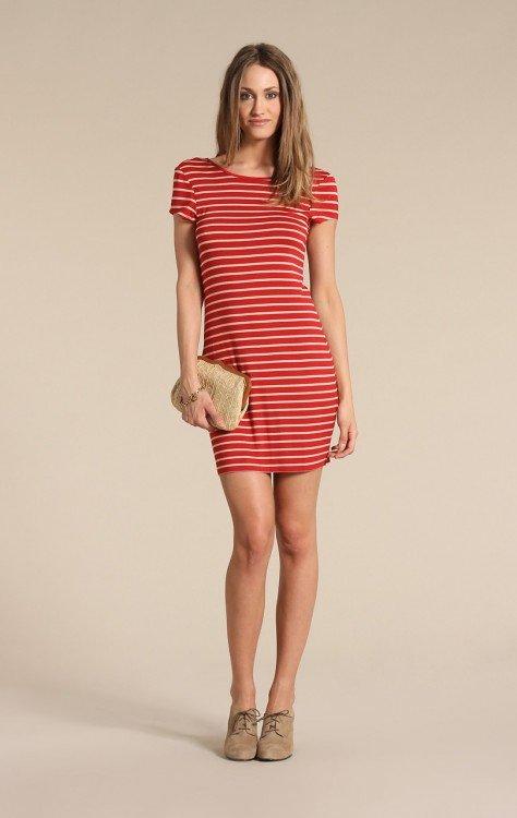платье в полоску короткое