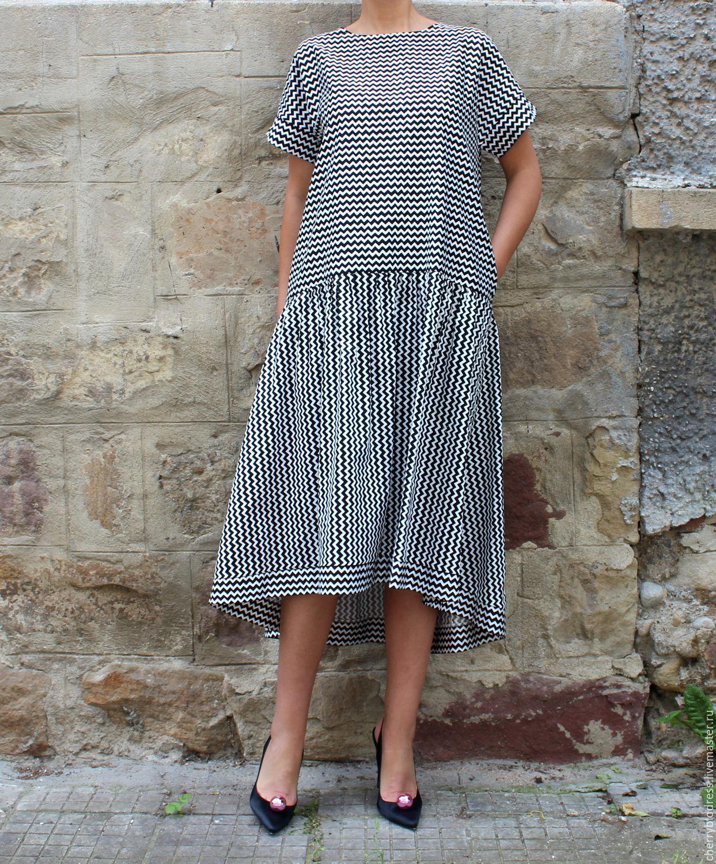 платье в полоску в стиле бохо