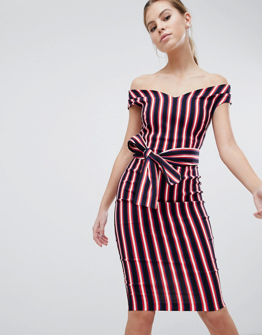 платье в полоску футляр