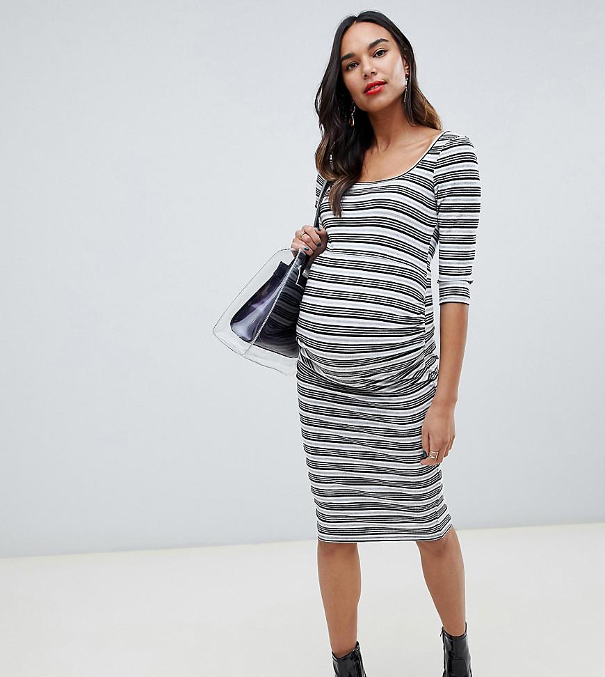 платье в полоску для беременных