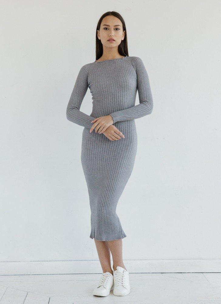 серое платье лапша