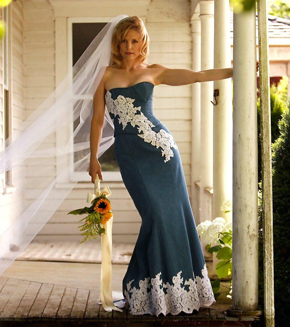джинсовое платье свадебное
