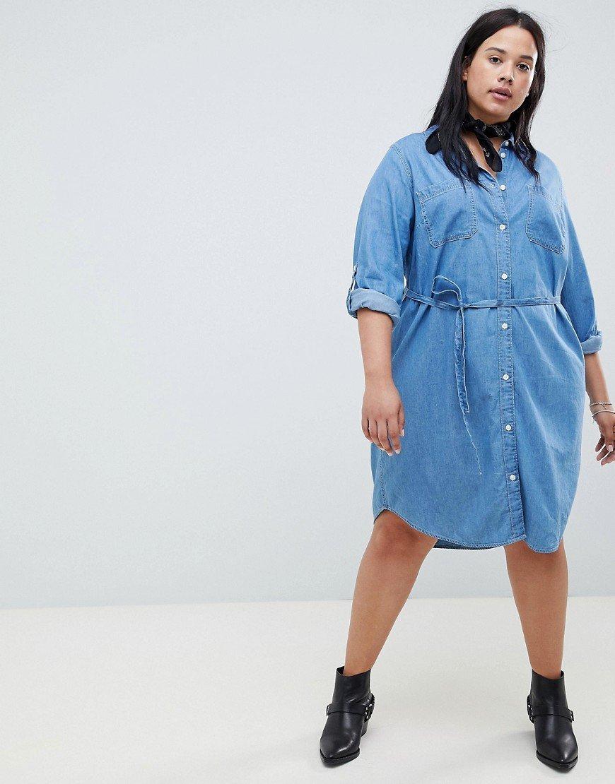 джинсовое платье на полных