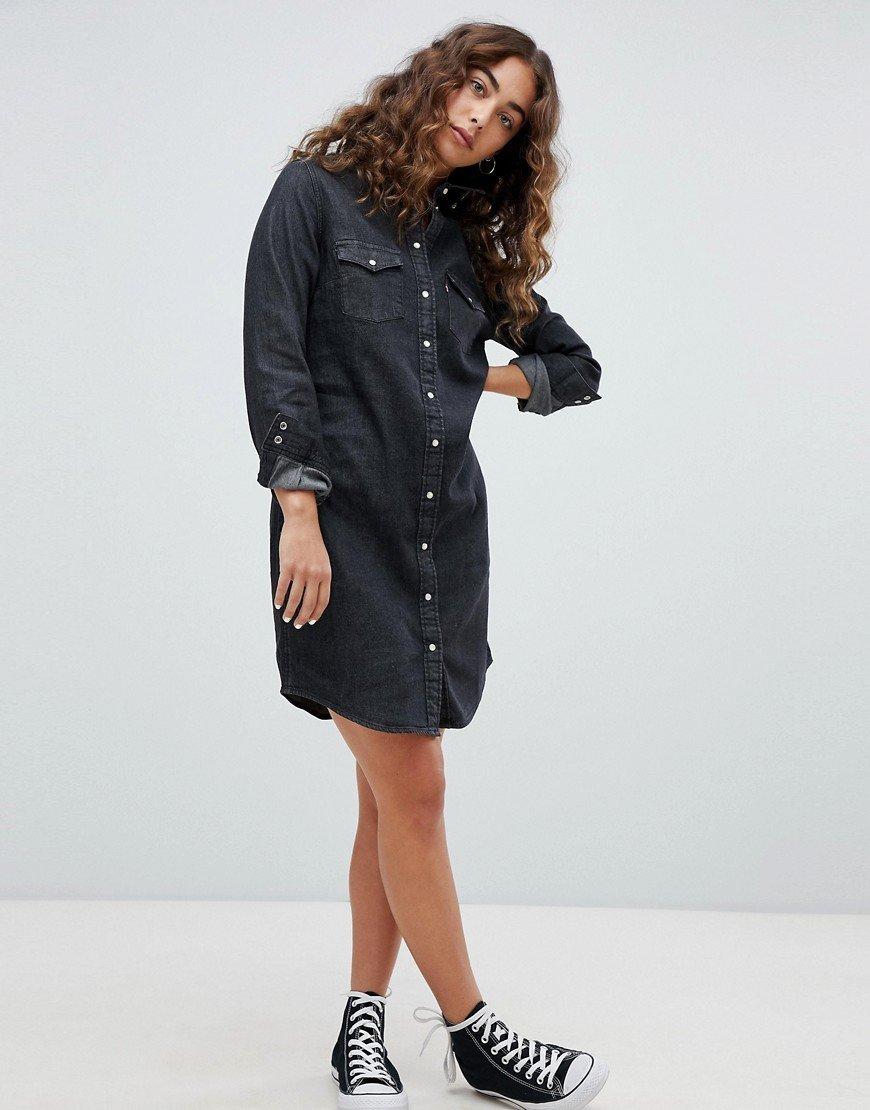 джинсовое платье черное