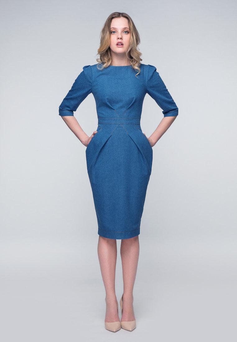 платье футляр джинсовое