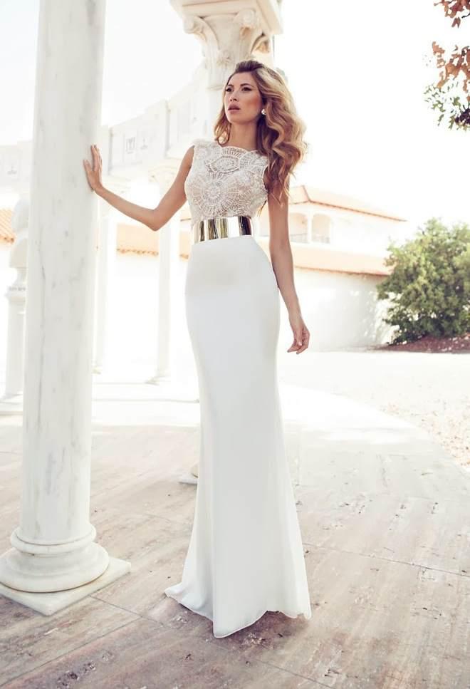 свадебное платье футляр длинное