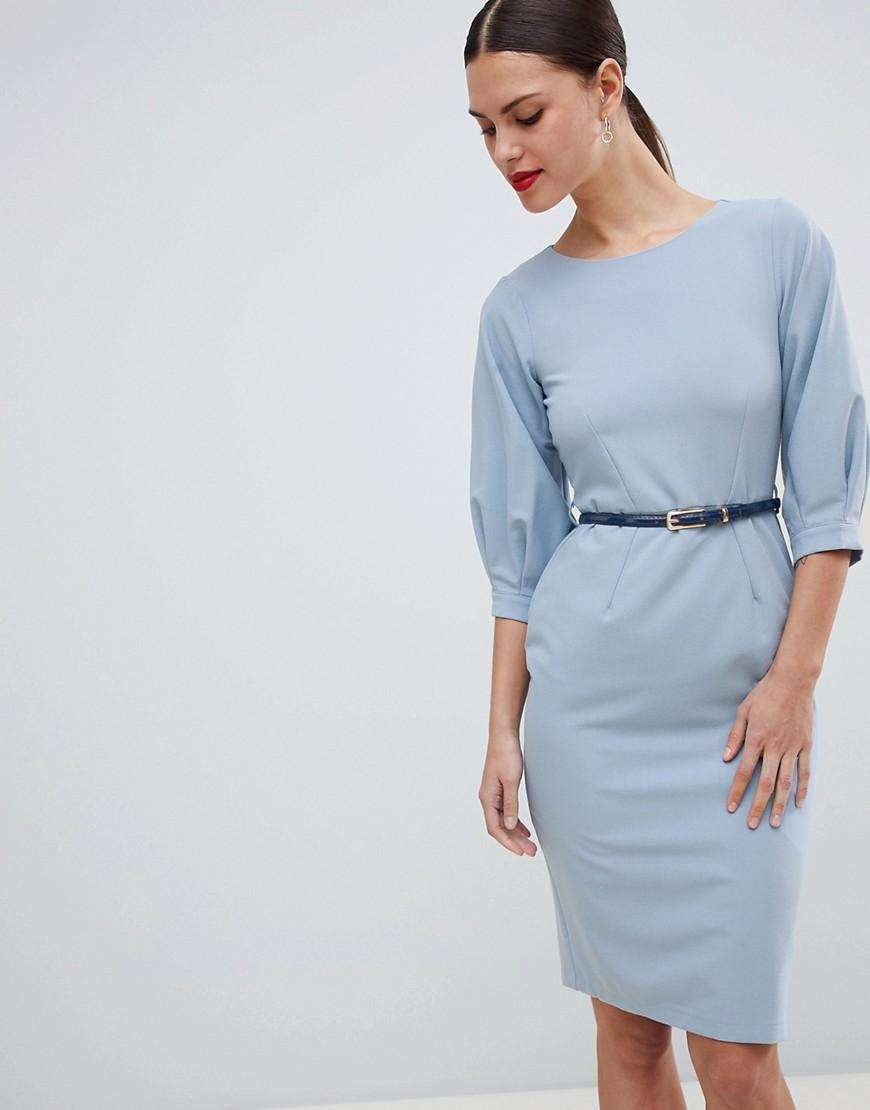 платье футляр с ремешком на талии