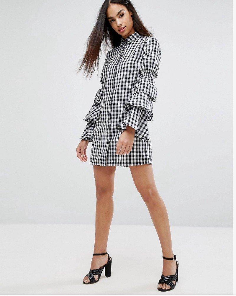 платье рубашка с воланами