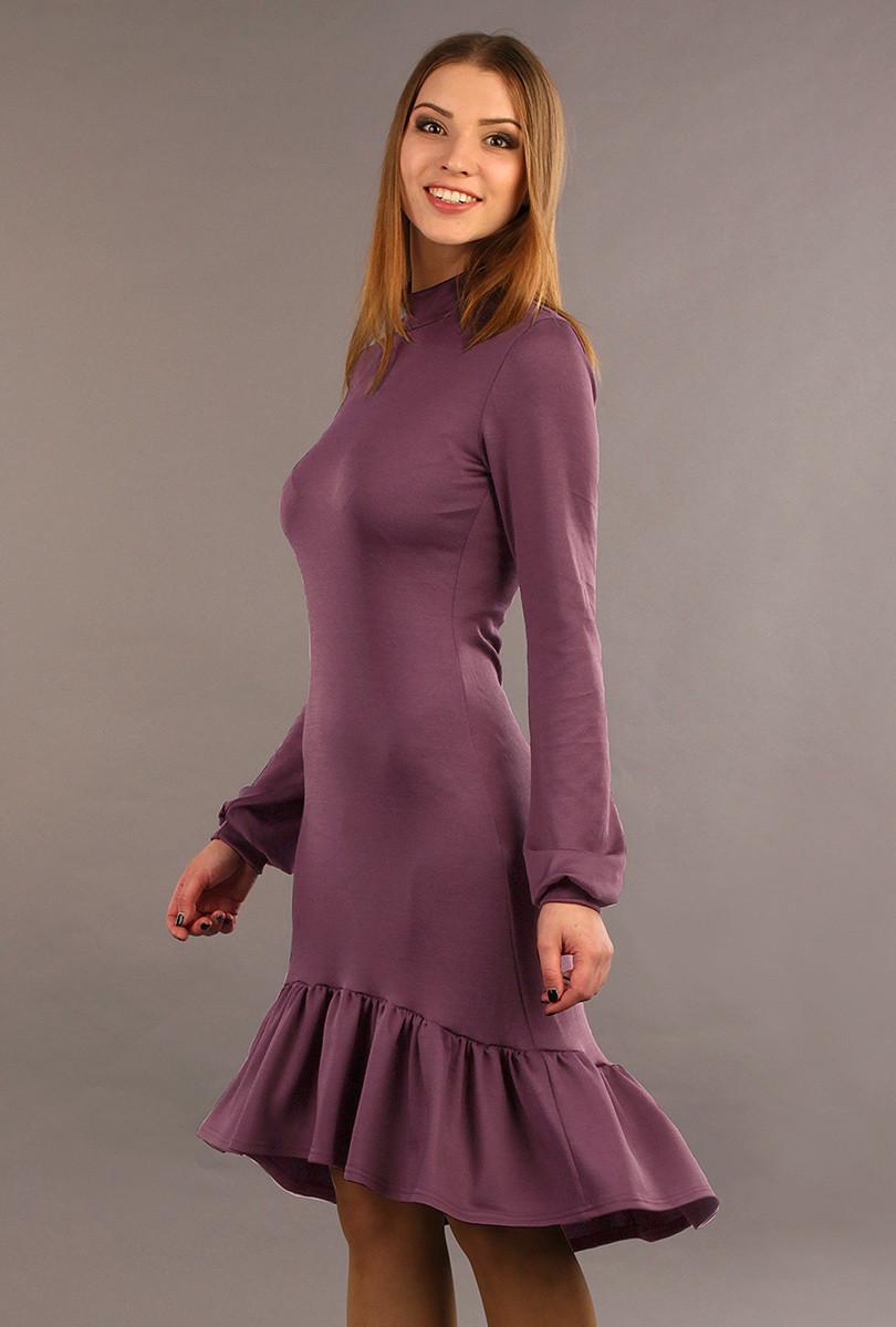 платье с воланами трикотаж