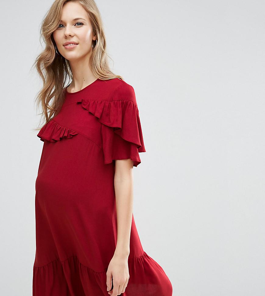 платье с воланами для беременных