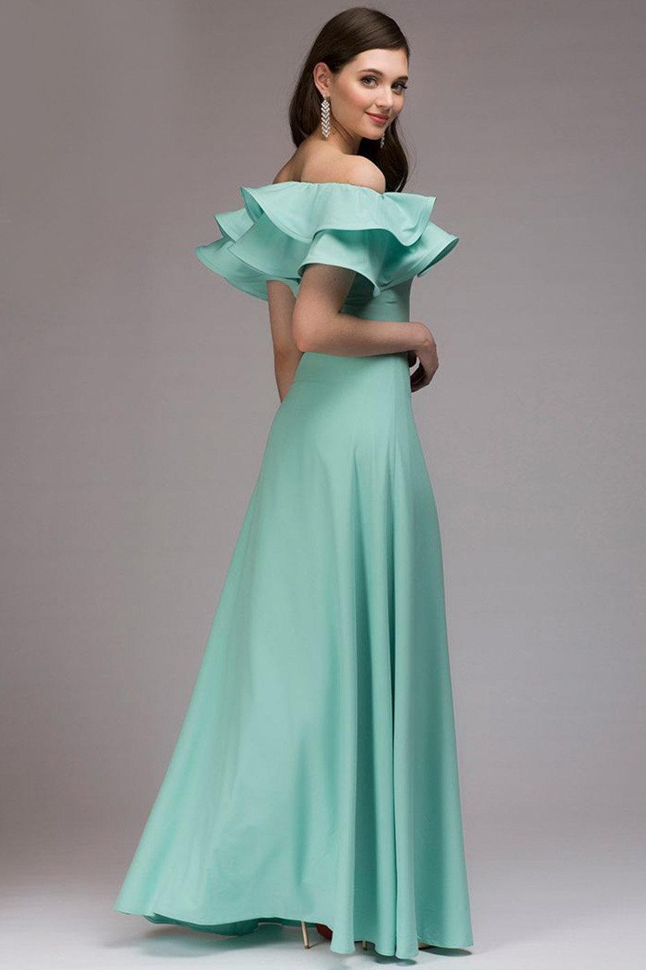 платье с воланами на выпускной
