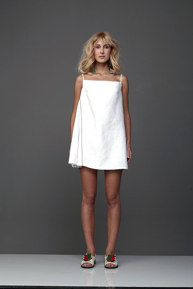 платье а силуэта короткое