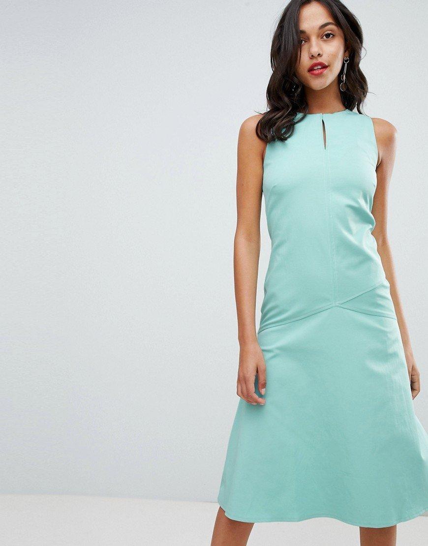 платье а силуэта миди