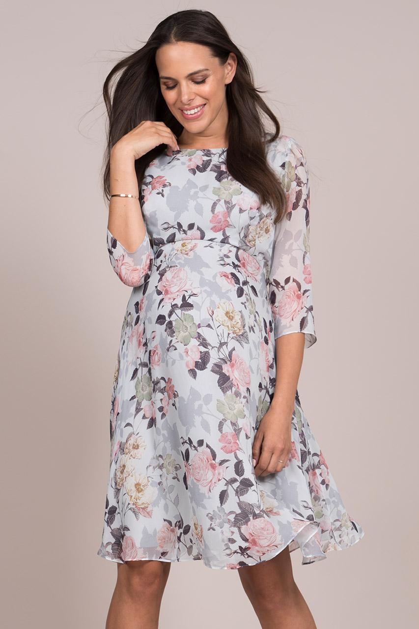 платья а силуэта для беременных с цветами