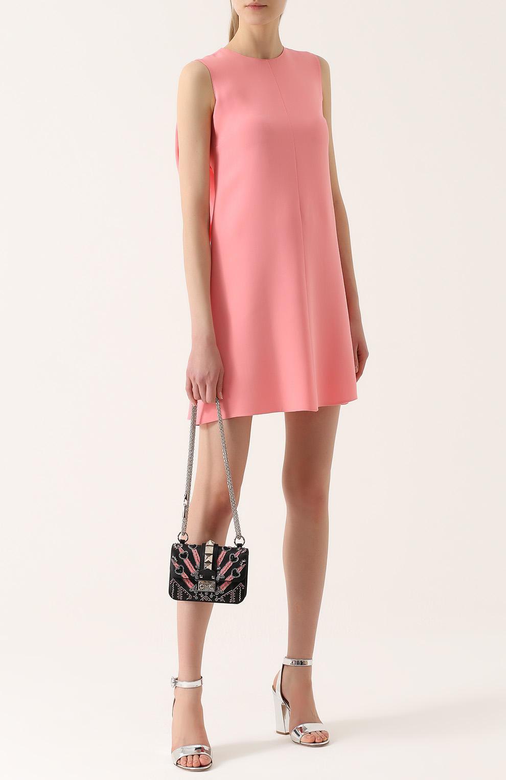 платья а силуэта розовое