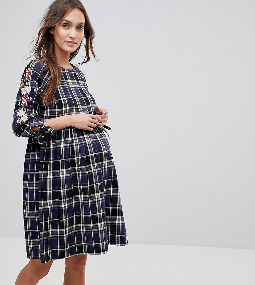 платье в клетку для беременных
