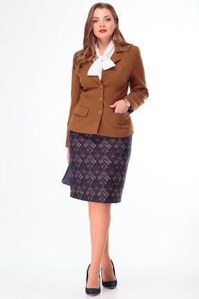 Горчичный костюм женский