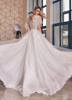 Элегантное свадебное платье с рукавами ZTB020