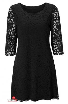 Платье из кружева Halens, цвет черный