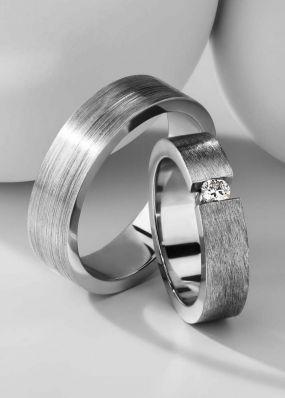 Обручальные кольца из белого золота BENDES 3093