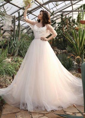 Свадебное платье с пайетками ZIS013
