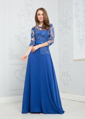 Длинное платье из шифона RB041B