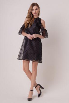 Вечернее платье с открытыми плечами 161001