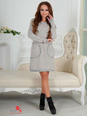 Платье BRIOLIN, цвет светло-серый