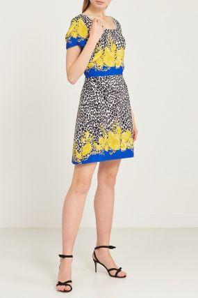 Короткое платье с принтом