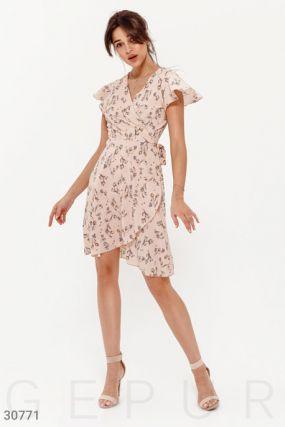 Платье-мини в цветочный принт