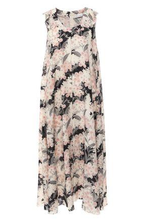 Шелковое платье с принтом REDVALENTINO