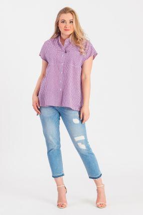 Блузка с фигурным низом